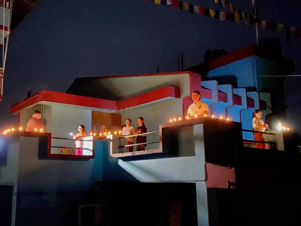 Pema Khandu lights candles