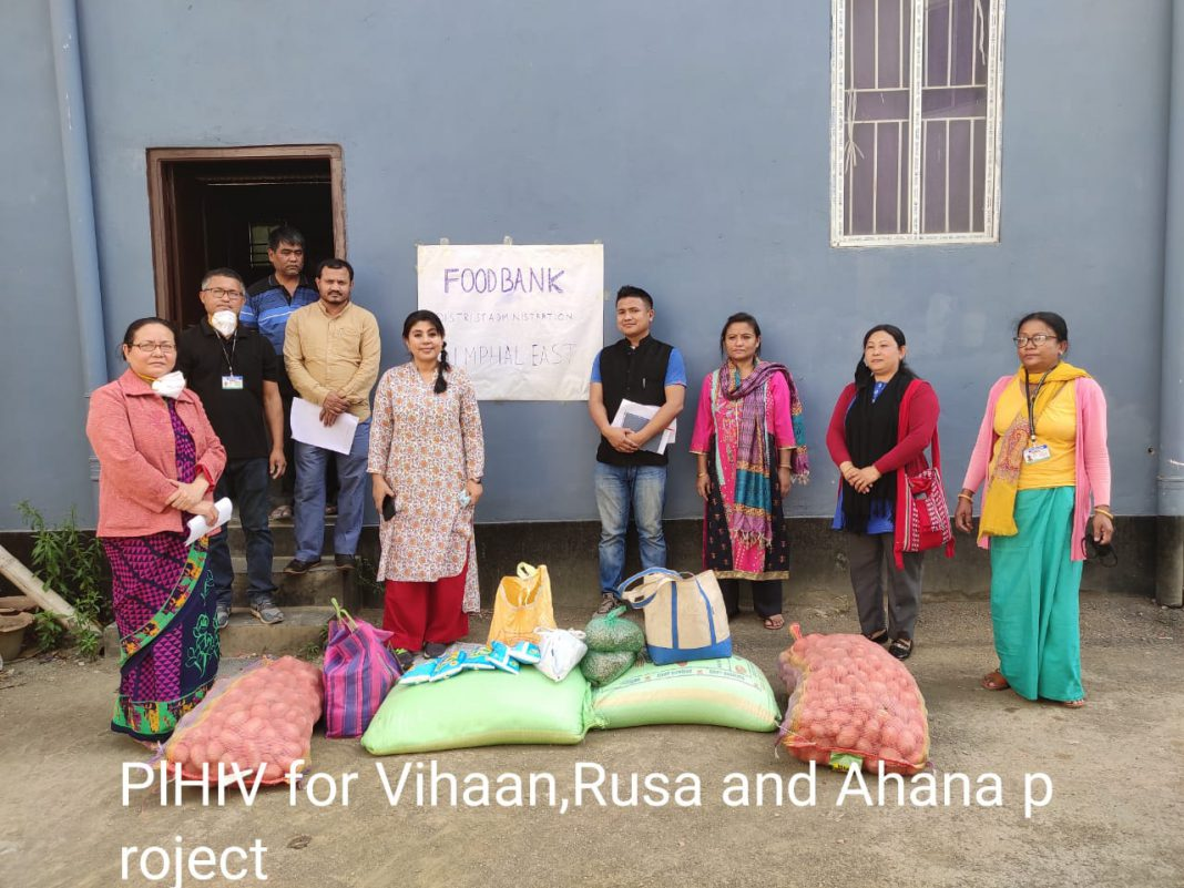 Food banks for needy in Imphal.