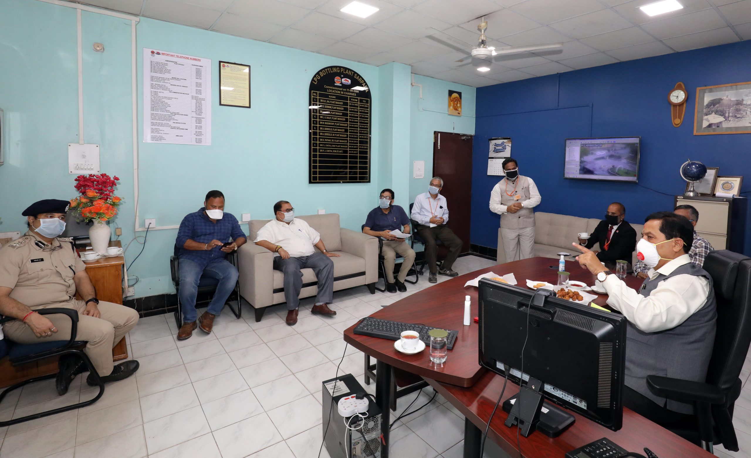 meeting with the senior officers of the IOCL in the plant premises