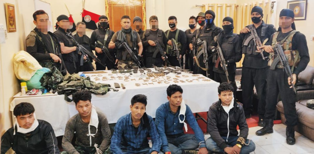 Army-police apprehended five ULFA-I insurgents