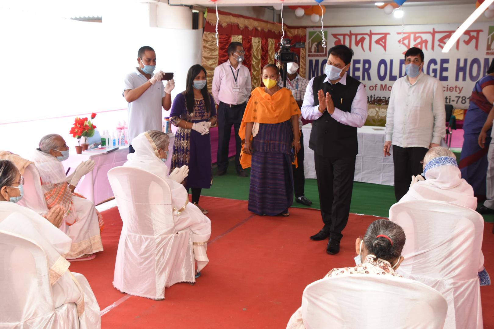 visit to the State Home of Women at Jalukbari