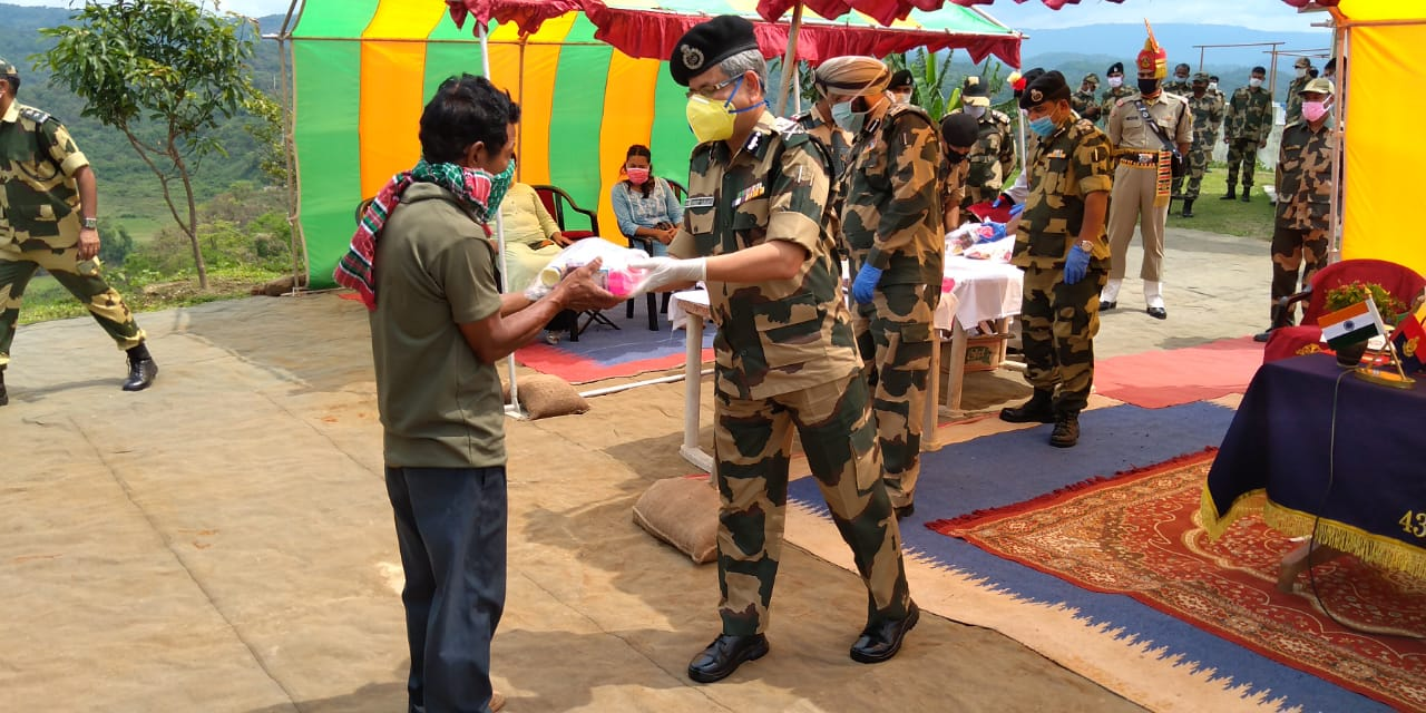 BSF helps villagers of the Assam-Meghalaya border