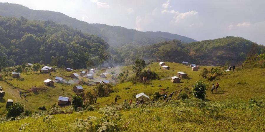 Manipur villagers build 80 quarantine huts
