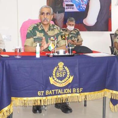 BSF Additional Director General visited Indo-Bangladesh border