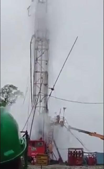 Massive blast at an oil field in Assam