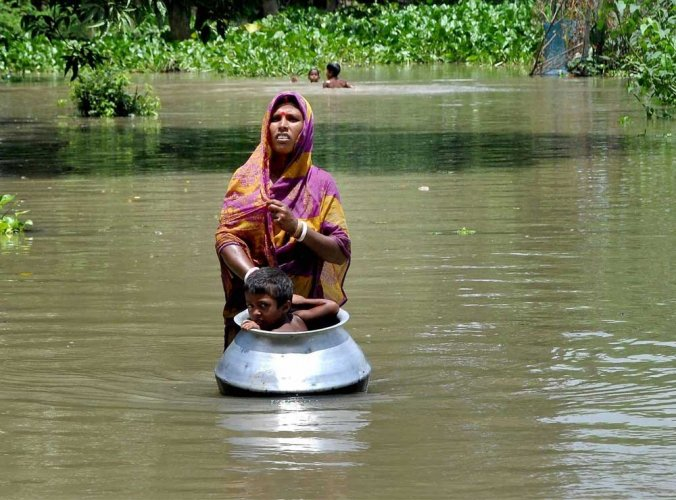 One person died from drowning in floodwater in Assam