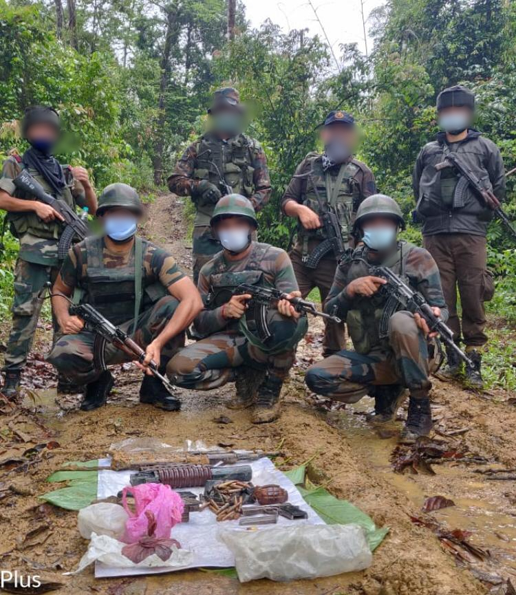 Army recovers arms and ammunition