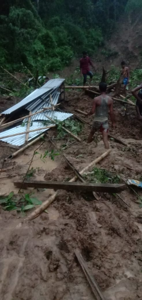 People died in Assam landslide incidents