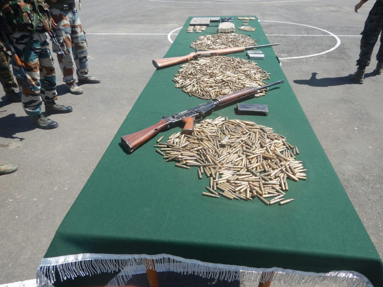 Security forces recover arms-ammunition in Manipur