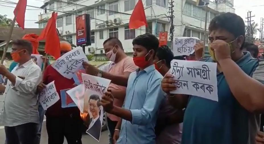 Anti-China protests in Assam and Arunachal Pradesh