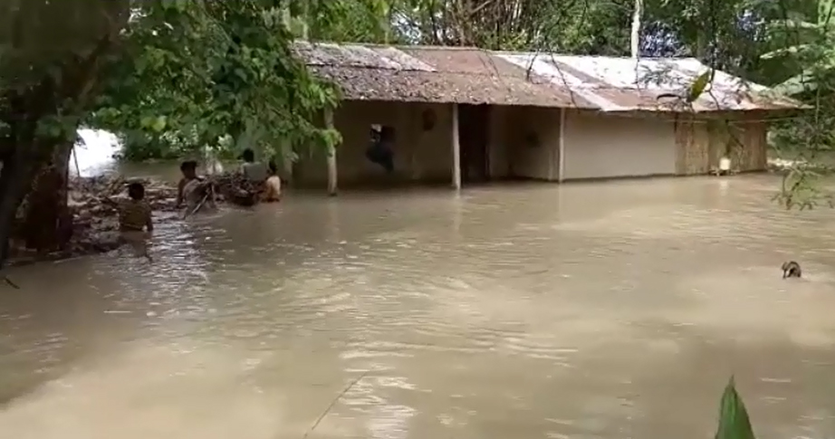People of four districts in Assam affected by flood