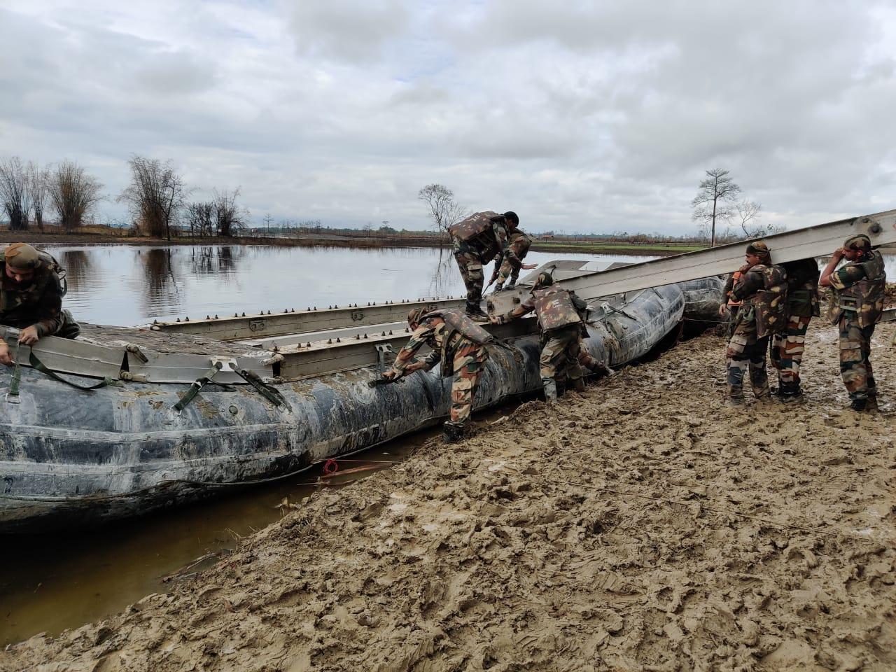 Army constructs bridge at Baghjan Oil Field Assam