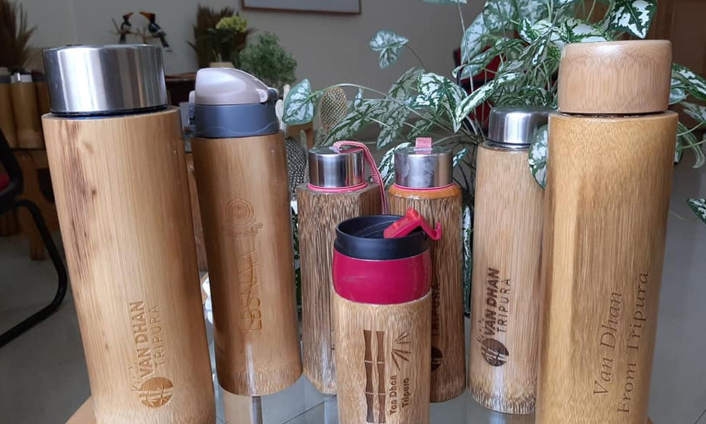 BCDI Tripura introduces bamboo water bottles