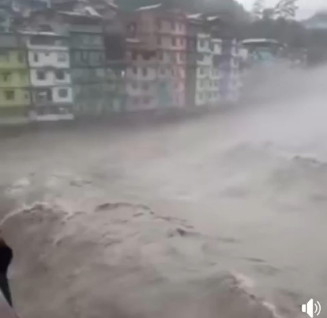 Ex-army building collapses partially due to heavy rainfall in Sikkim