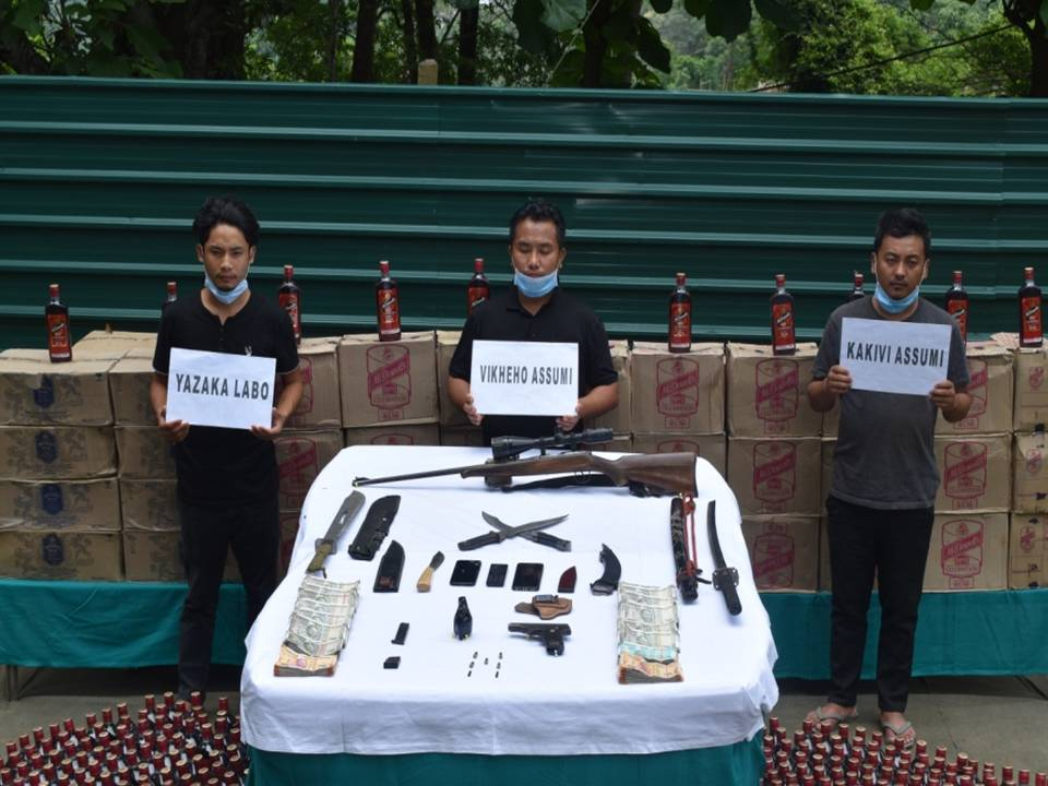 Security forces nab three people with IMFL in Nagaland