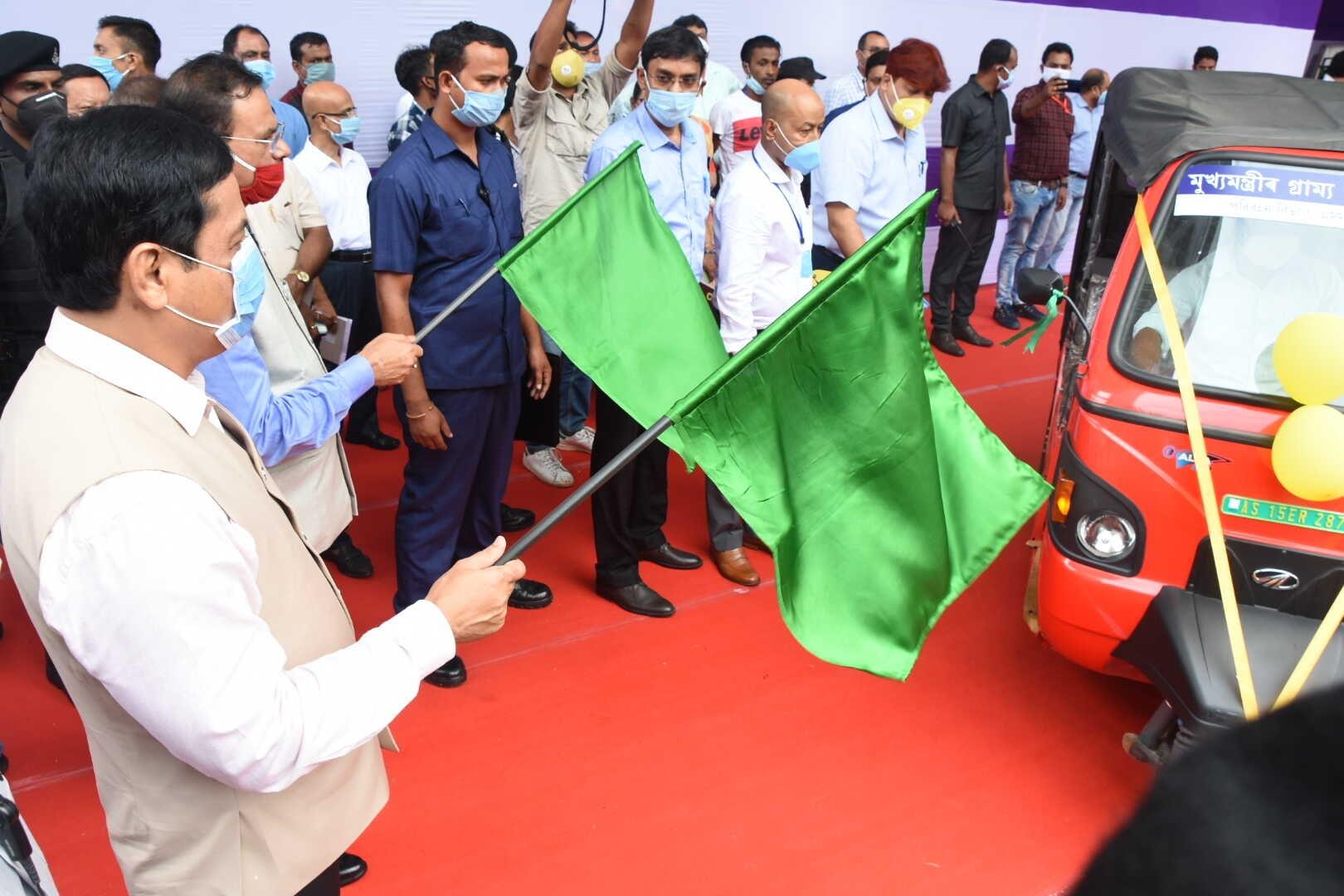 Assam CM launches Mukhyamantrir Grammya Paribahan Achoni