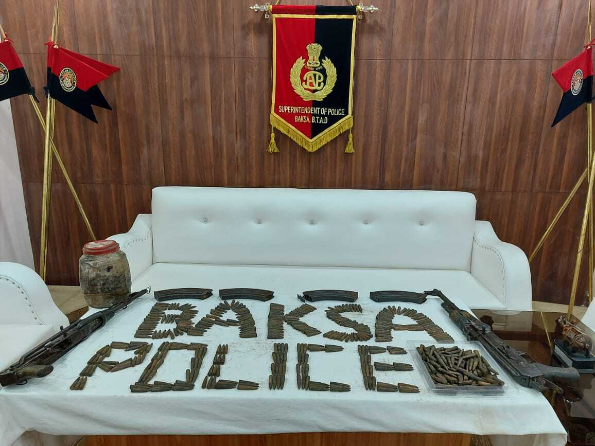 Huge cache of arms-ammunition recovered in Assam Baksa district