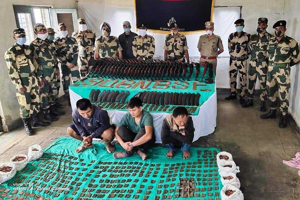 BSF seized a large number of arms-ammunition in Mizoram