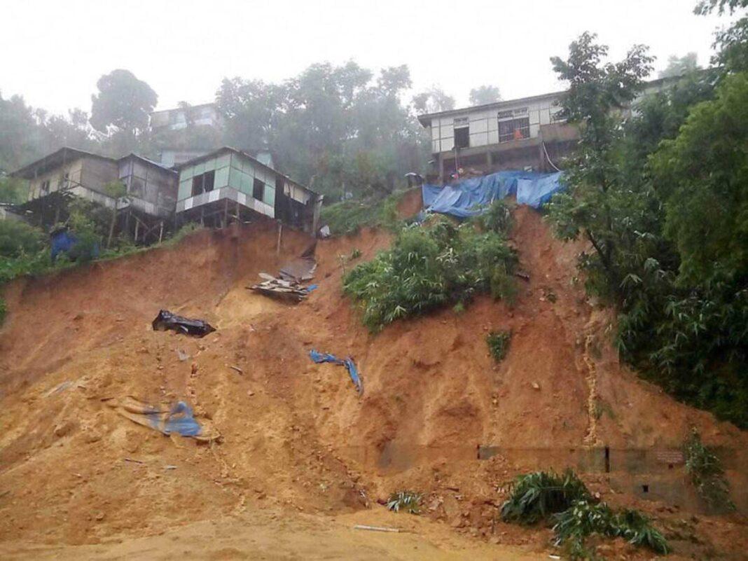 Landslide in Aizawl