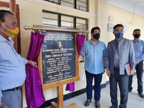 Meghalaya CM inaugurates Bajengdoba Secondary School