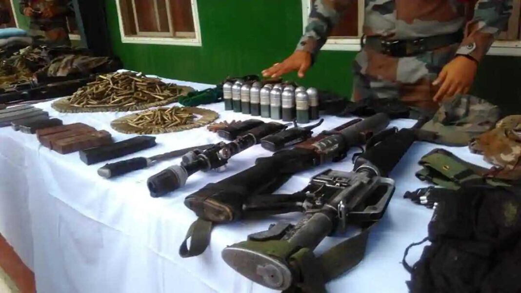 Security forces recover large cache of arms-ammunition in Manipur and Nagaland