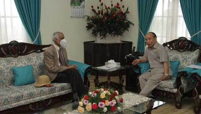 MHA Joint Secretary meets Mizoram CM and Governor