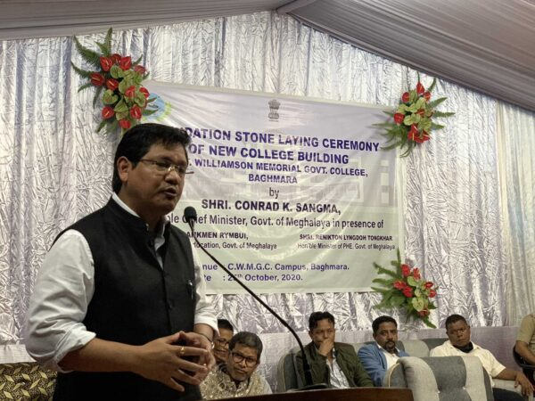 CM Sangma lays foundation for new building of Capt Williamson A Sangma Memorial College