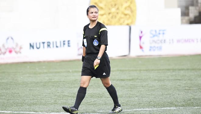 Meghalaya policewoman cop selected as FIFA International Referee