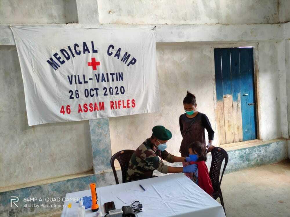 Assam Rifles conducts medical camp in Aizawl