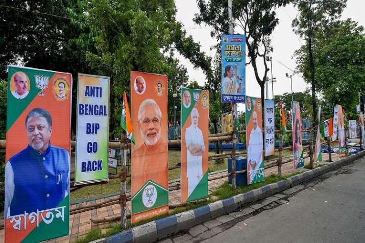 Poster war between TMC and BJP