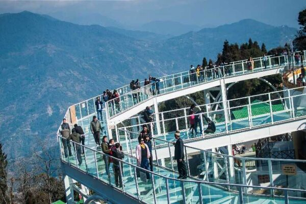 India's first glass skywalk located in Sikkim