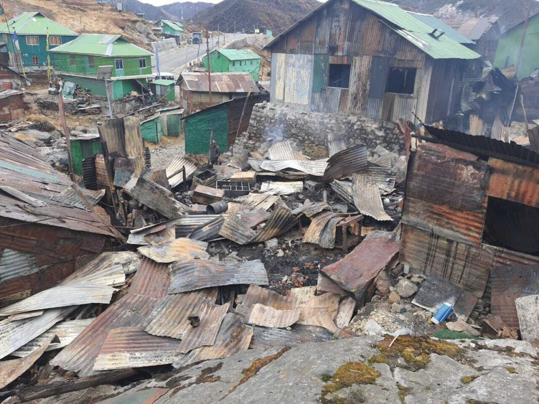 Indian Army relentlessly prevented the fire spread at Yak La in East Sikkim