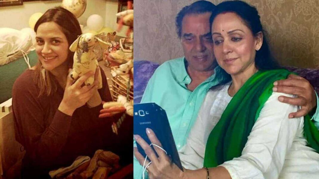 Hema Malini, Dharmendra become grandparents; Ahana Deol gives birth to twin girls