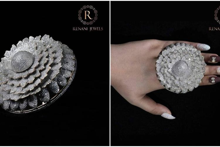 Indian jeweller sets world record for designing a ring with 12,638 Diamonds