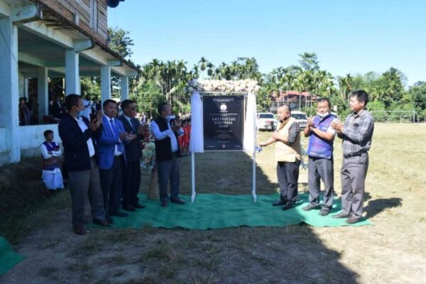 Mizoram: Sports minister unveils laying of AstroTurf the surface at Kamalanagar Football Ground