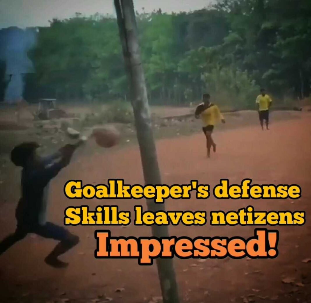 You can't miss this Goalkeeper defense skills leave netizens impressed