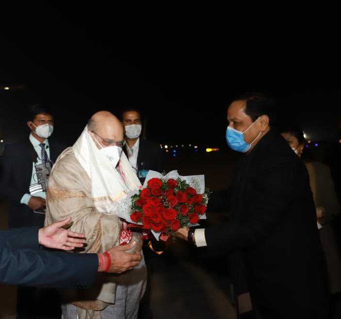 Amit Shah arrives Guwahati, thanks people of Assam for warm welcome