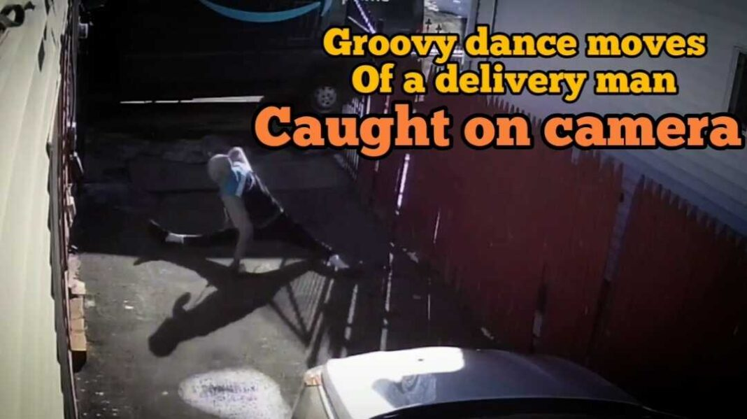 Groovy dance moves of delivery man goes Viral
