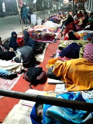 Tripura teachers continue sit-in protest in cold weather