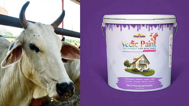 Nitin Gadkari launch cow dung-based Vedic Paint