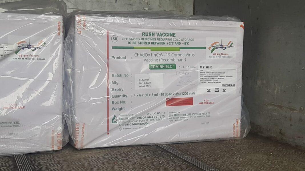 Mizoram receive the first batch of COVID vaccine