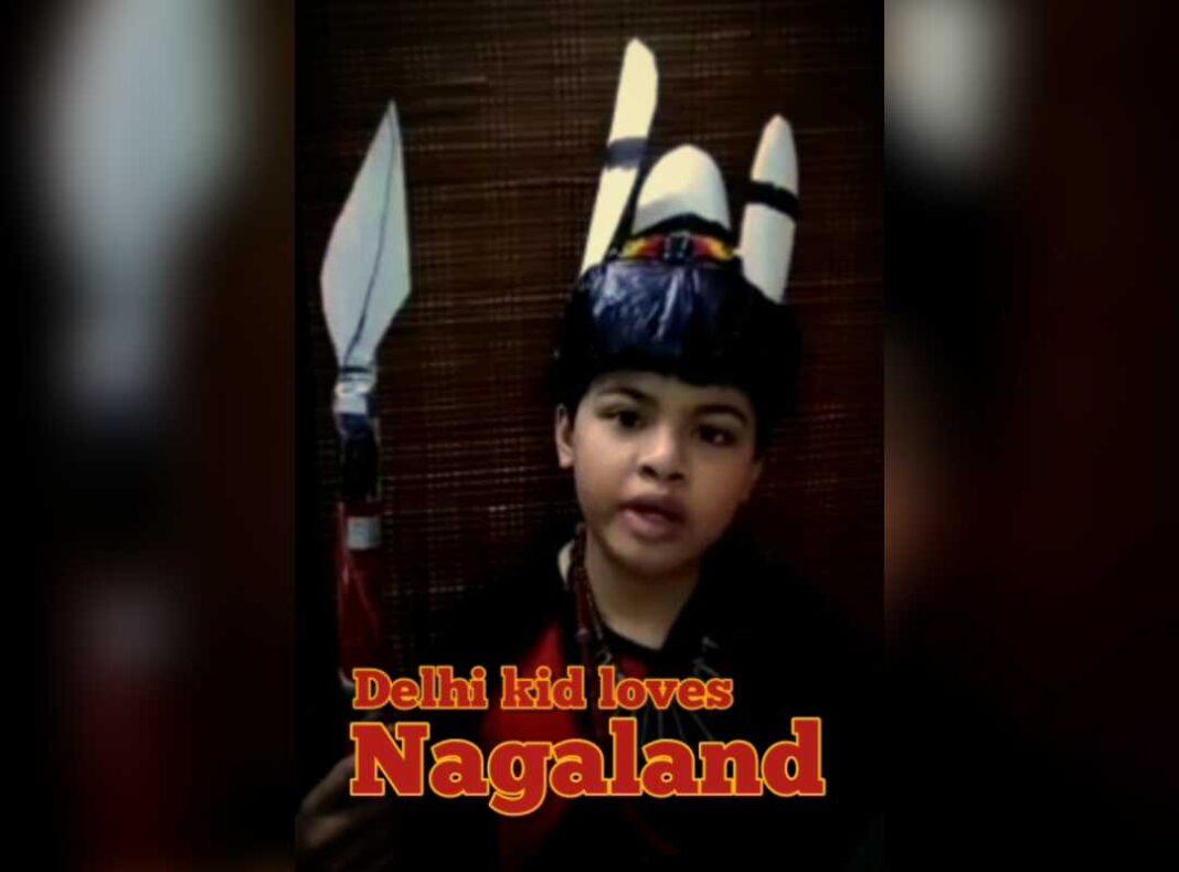 Delhi kid loves Nagaland so much, he made his own Ao Naga attire