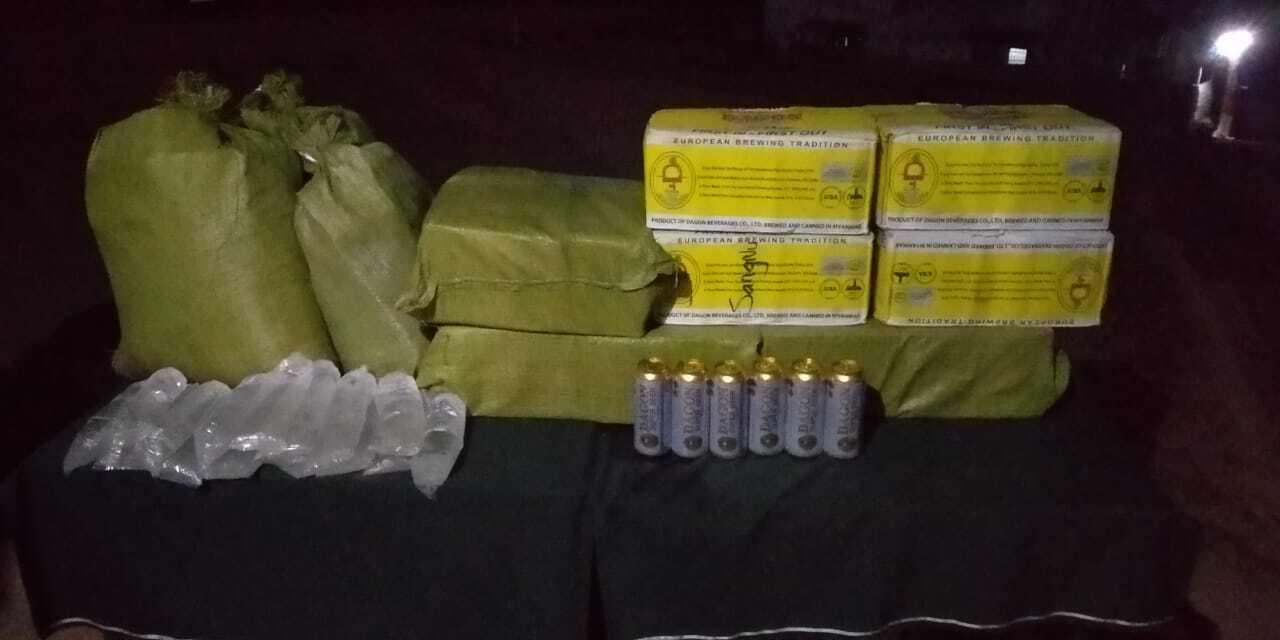 Assam Rifles seized illegal local liquor in Mizoram