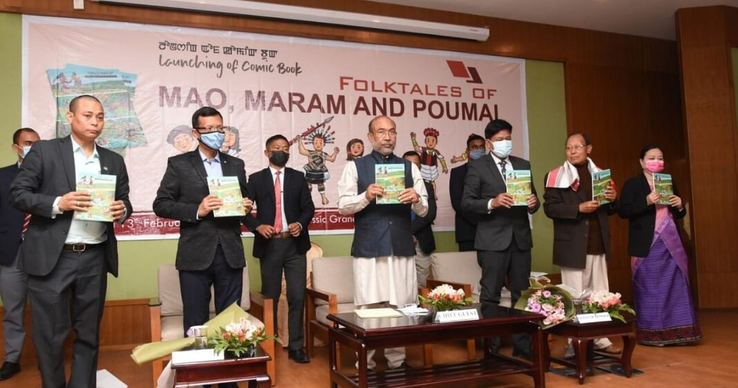 1st comic book on folktales of Mao, Maram, and Poumai tribes released in Manipur