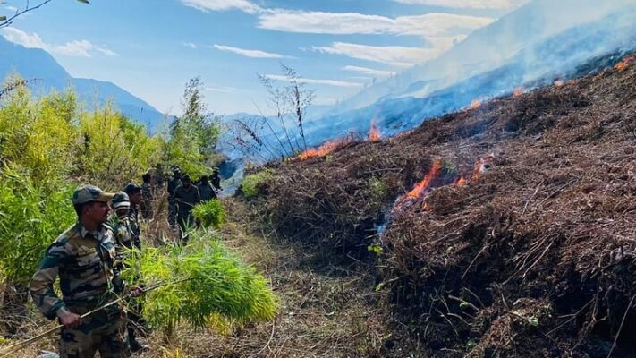 Arunachal Pradesh: Indian Army helps douse forest fire in Anini