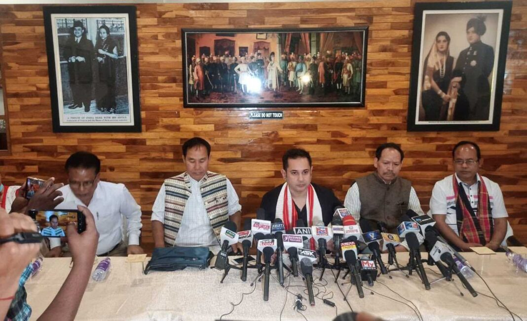 Ahead of Election: BJP ally merges with Tripura Royal, demands separate State