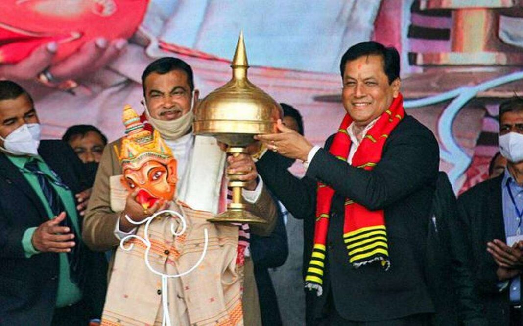 CM Sarbananda Sonowal inaugurates several projects ahead of Assam assembly polls